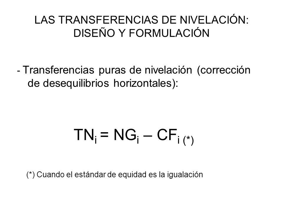 LAS TRANSFERENCIAS DE NIVELACIÓN: DISEÑO Y FORMULACIÓN