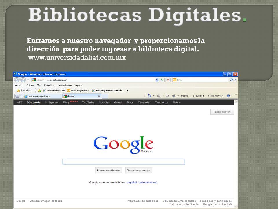 Bibliotecas Digitales.
