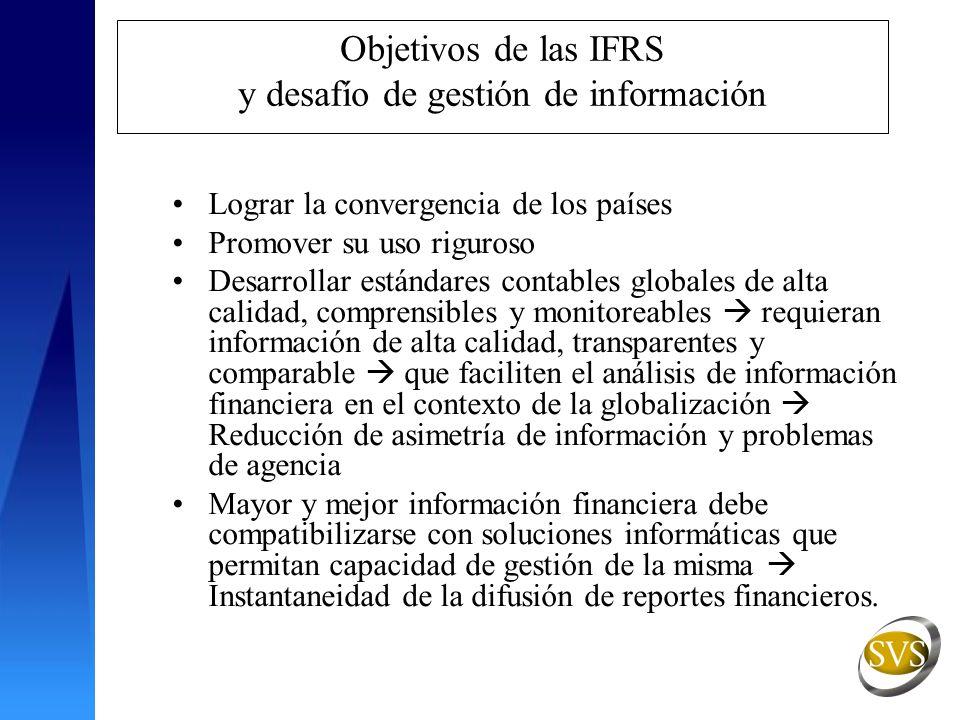 Objetivos de las IFRS y desafío de gestión de información