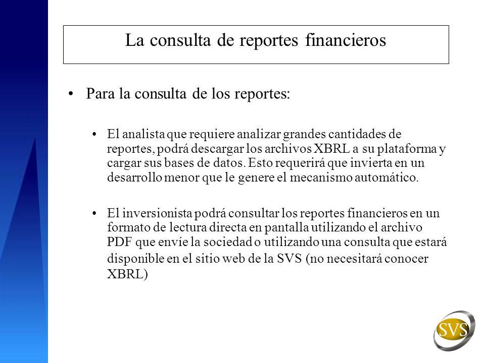 La consulta de reportes financieros