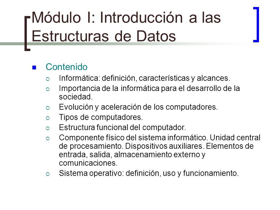 Módulo I: Introducción a las Estructuras de Datos