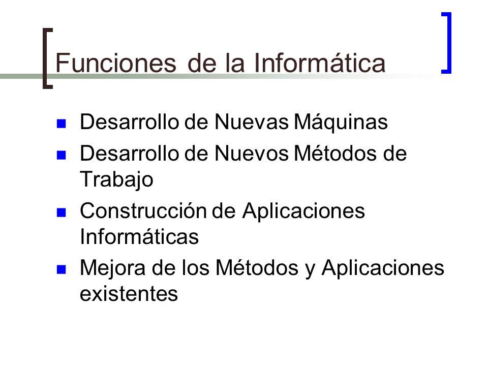 Funciones de la Informática