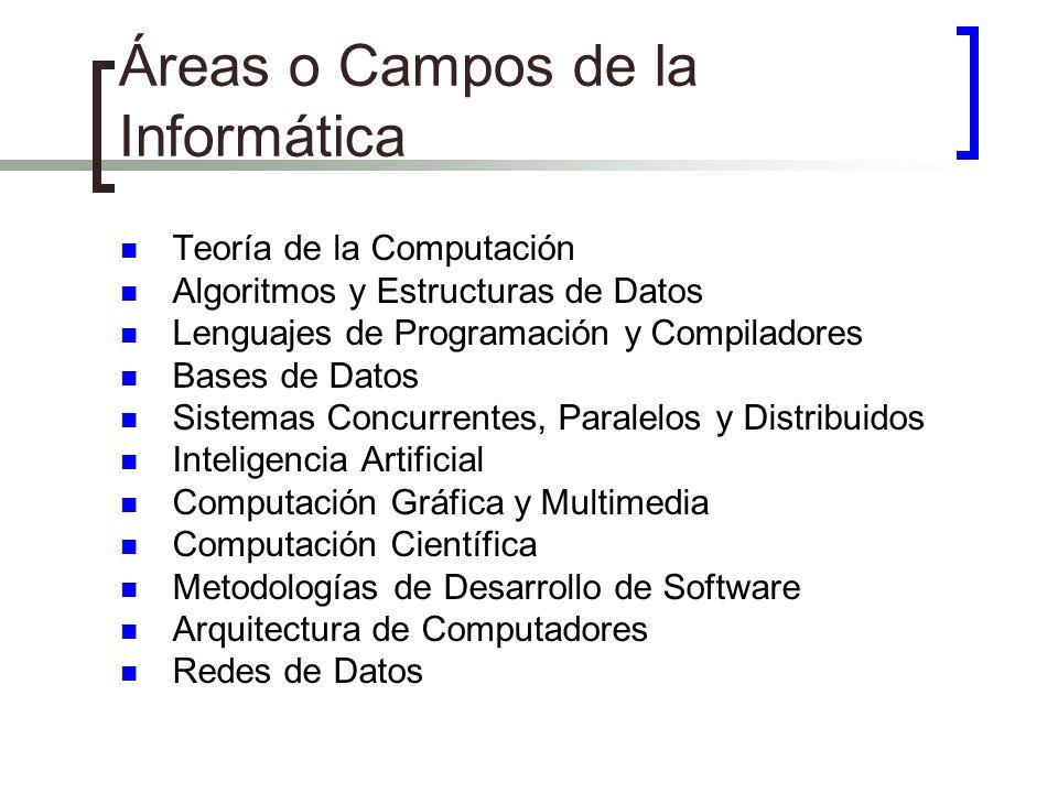 Áreas o Campos de la Informática