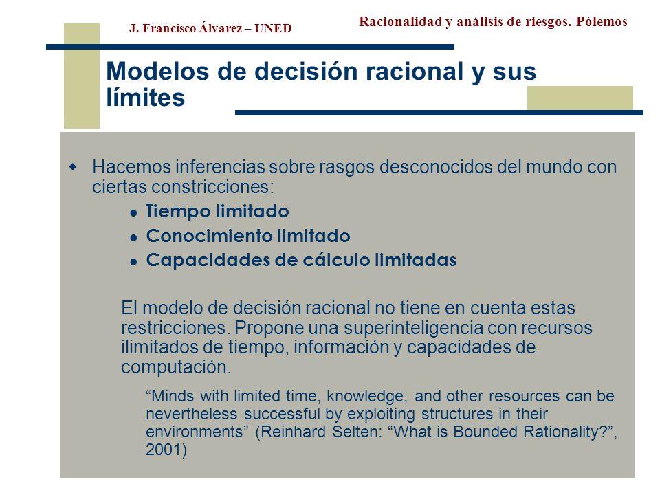 Modelos de decisión racional y sus límites