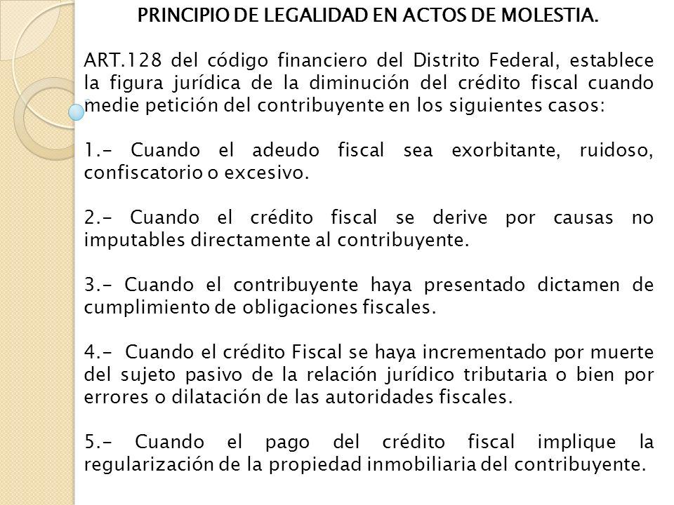 PRINCIPIO DE LEGALIDAD EN ACTOS DE MOLESTIA.