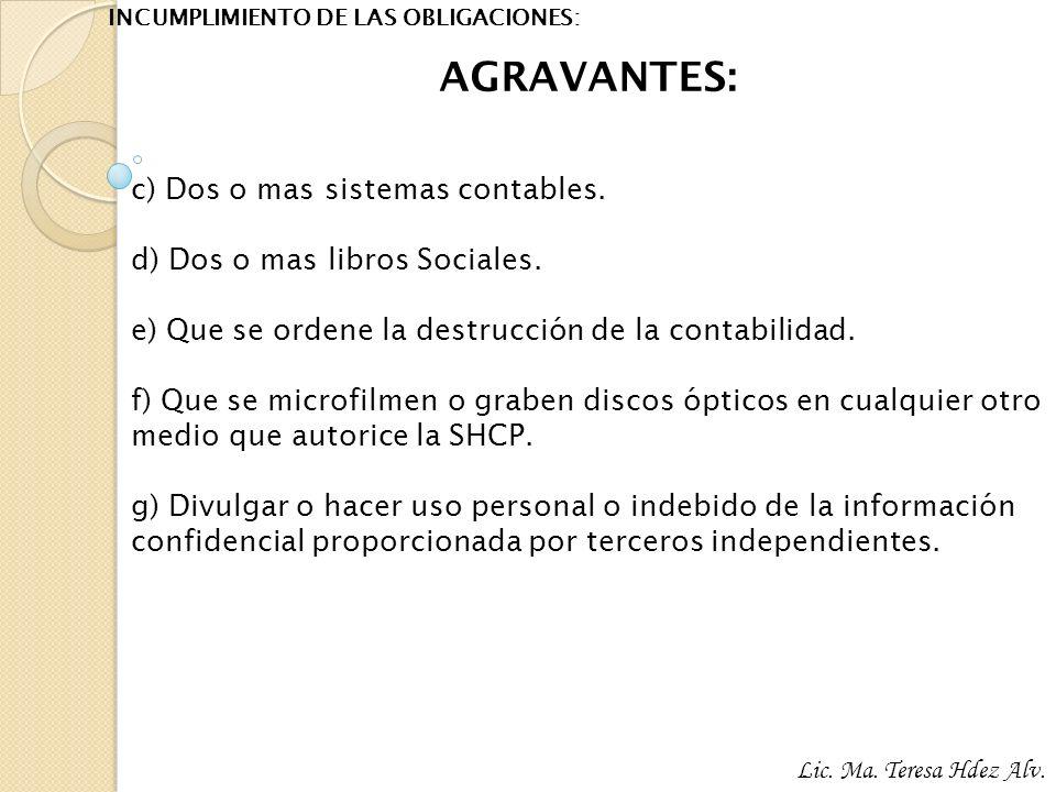 INCUMPLIMIENTO DE LAS OBLIGACIONES: