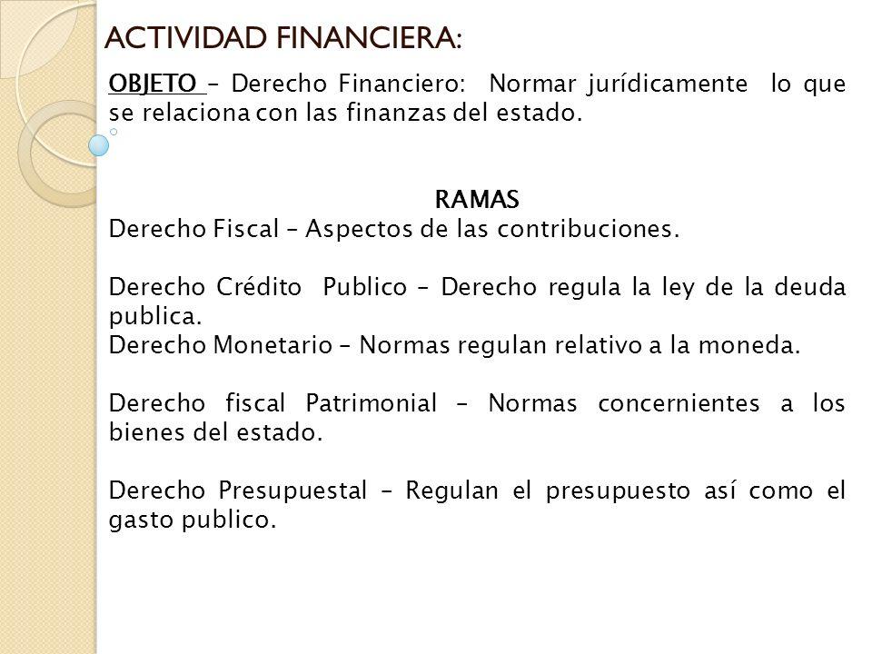 ACTIVIDAD FINANCIERA: