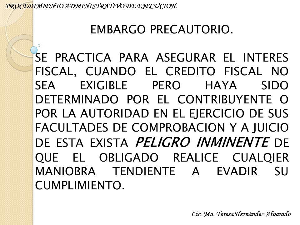 PROCEDIMIENTO ADMINISTRATIVO DE EJECUCION.