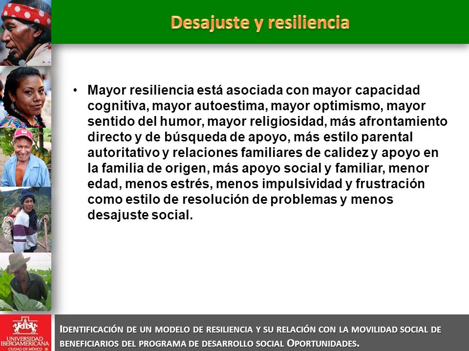 Desajuste y resiliencia