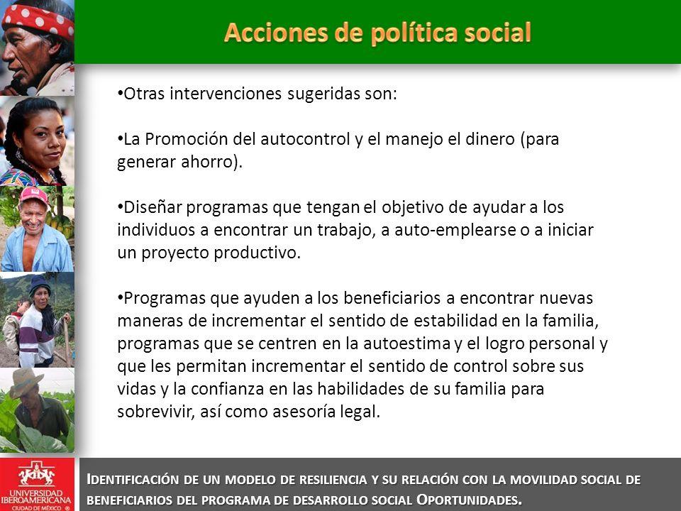 Acciones de política social
