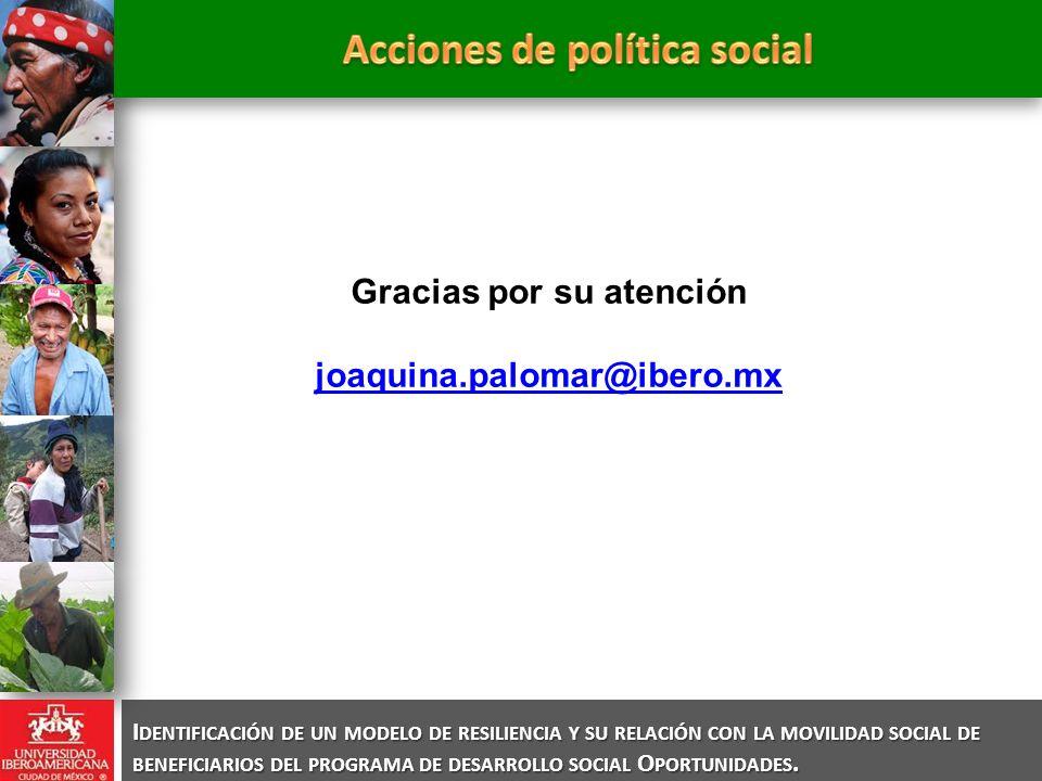 Acciones de política social Gracias por su atención