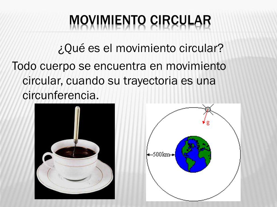 Movimiento circular ¿Qué es el movimiento circular.