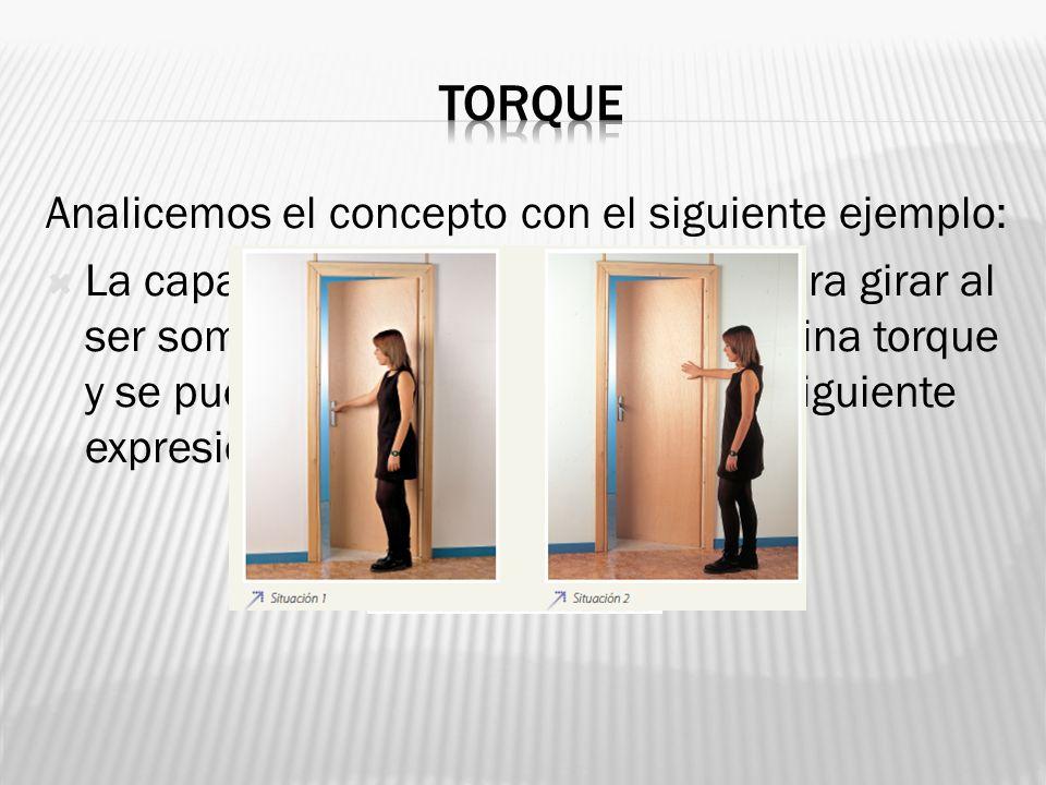 torque Analicemos el concepto con el siguiente ejemplo: