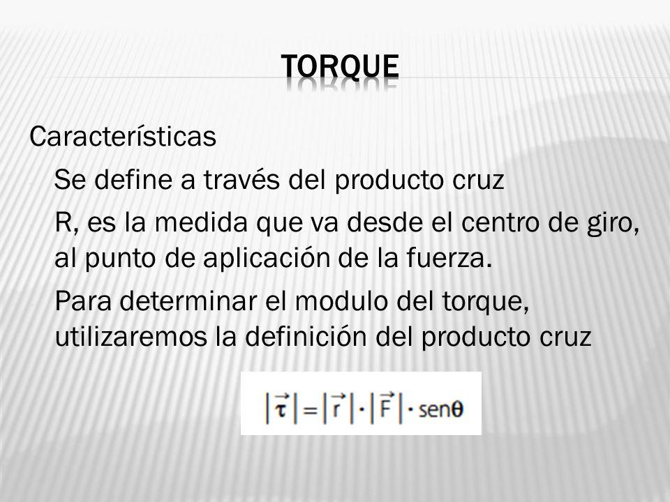 torque Características Se define a través del producto cruz