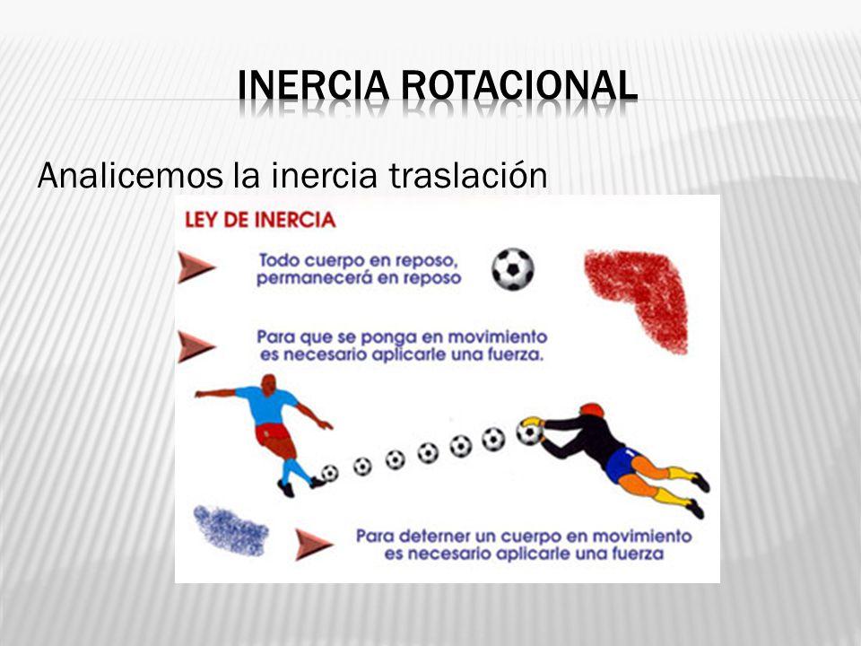 Inercia rotacional Analicemos la inercia traslación
