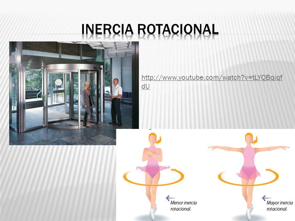 Inercia rotacional http://www.youtube.com/watch v=tLYQBqiqfdU