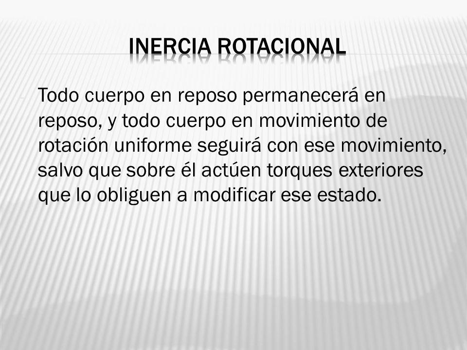 Inercia rotacional