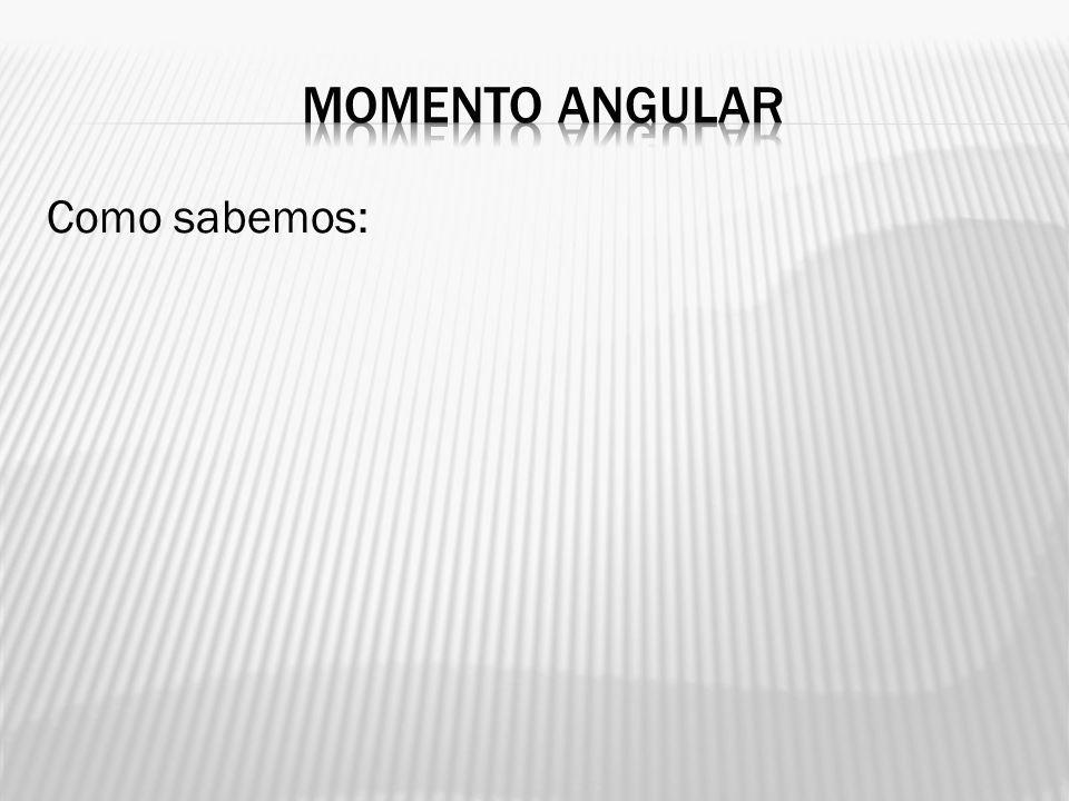 Momento angular Como sabemos: