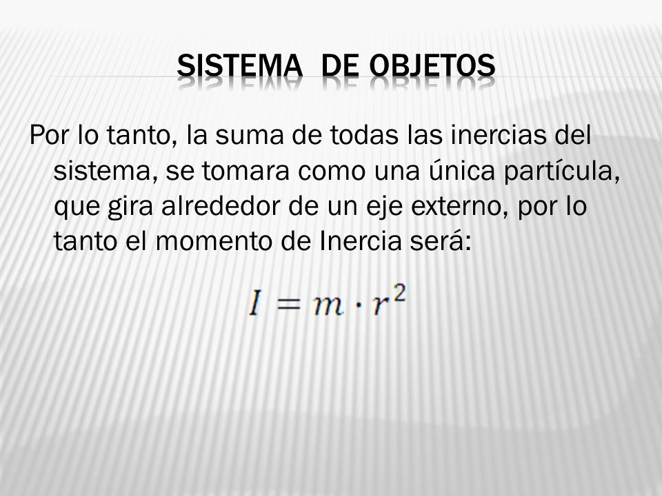 Sistema de objetos