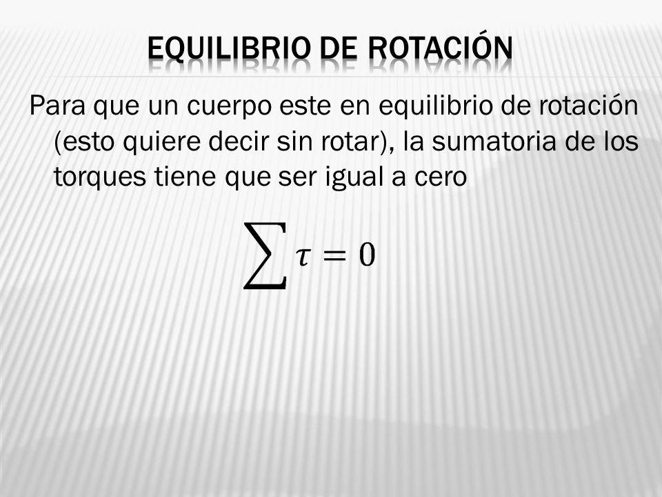 Equilibrio de rotación