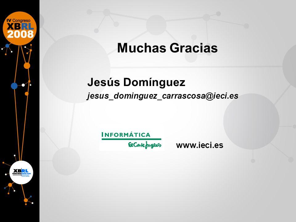 Muchas Gracias Jesús Domínguez