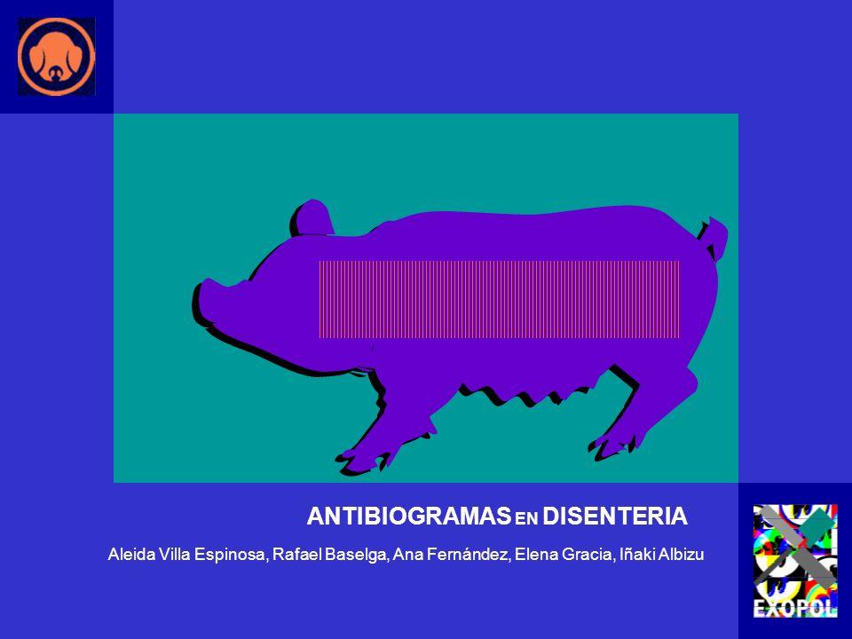 ANTIBIOGRAMAS EN DISENTERIA
