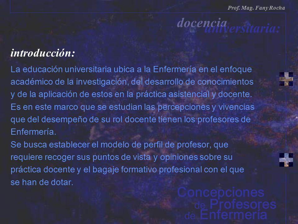 docencia universitaria: Concepciones introducción: de Profesores