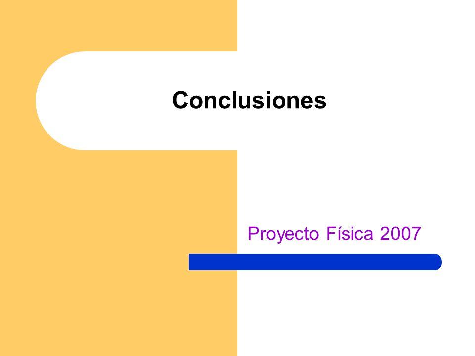 Conclusiones Proyecto Física 2007