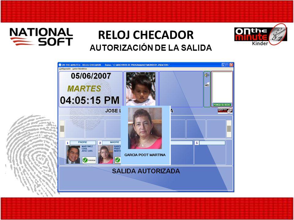 AUTORIZACIÓN DE LA SALIDA