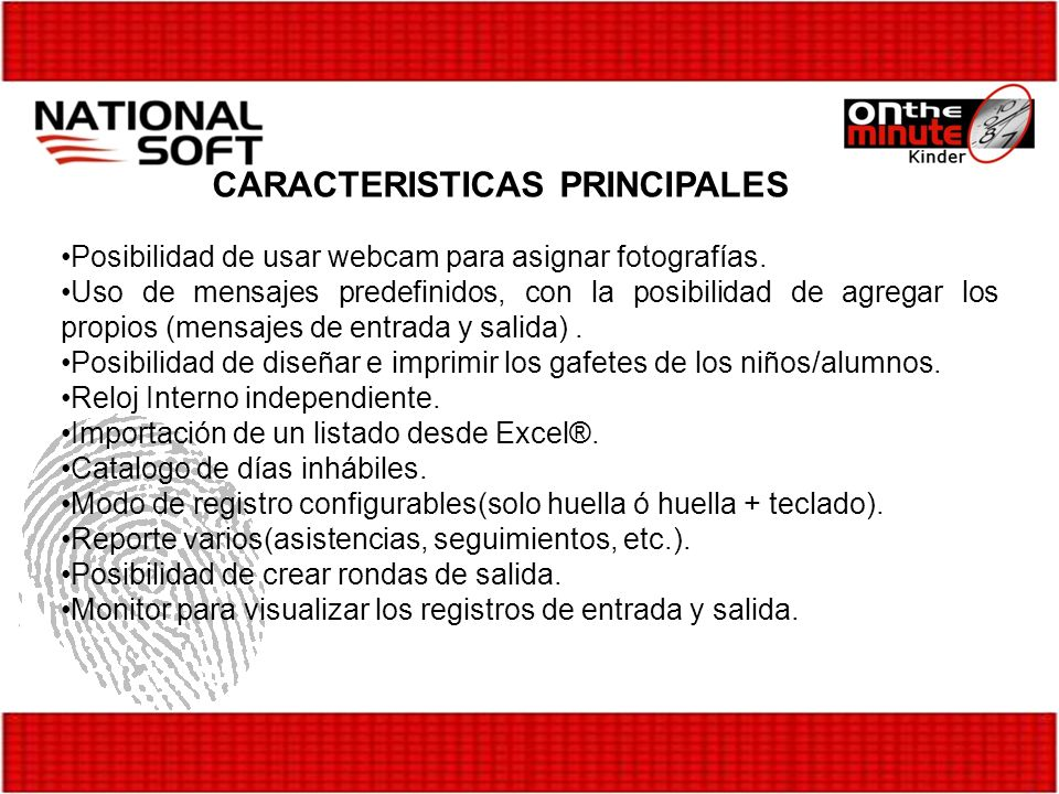 CARACTERISTICAS PRINCIPALES