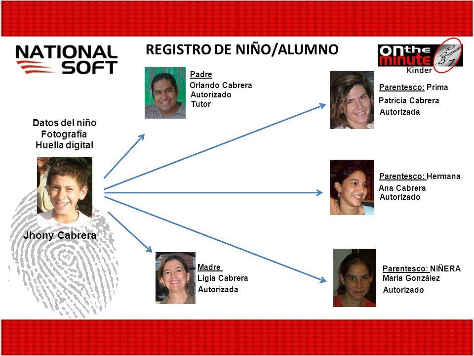 REGISTRO DE NIÑO/ALUMNO