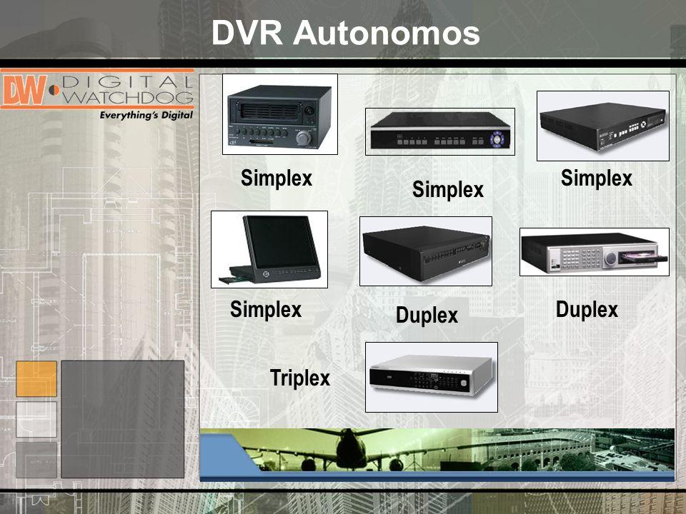 DVR Autonomos Simplex Simplex Simplex Simplex Duplex Duplex Triplex