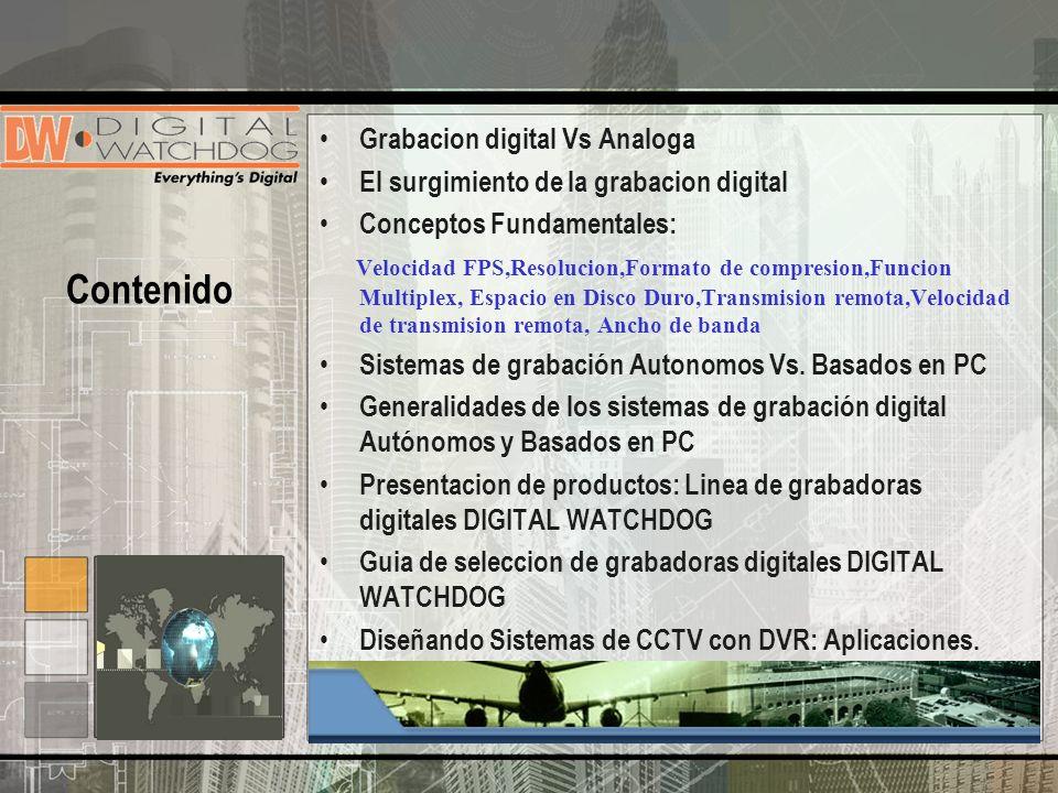 Contenido Grabacion digital Vs Analoga