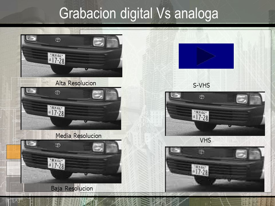 Grabacion digital Vs analoga