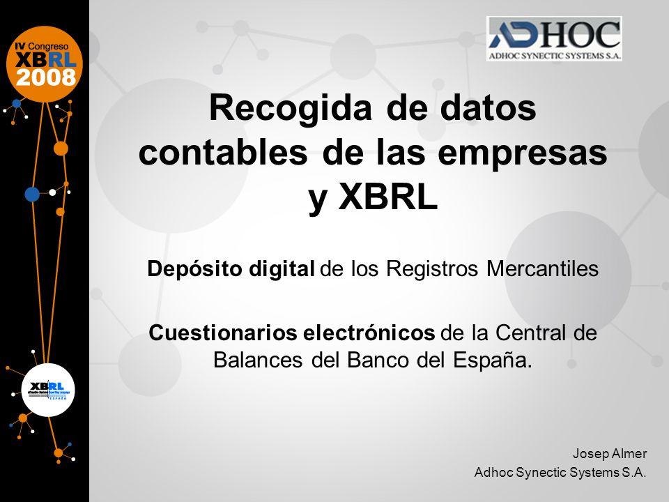 Recogida de datos contables de las empresas y XBRL