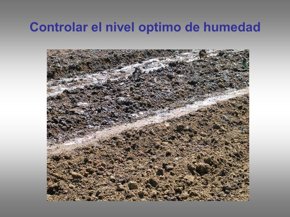Controlar el nivel optimo de humedad