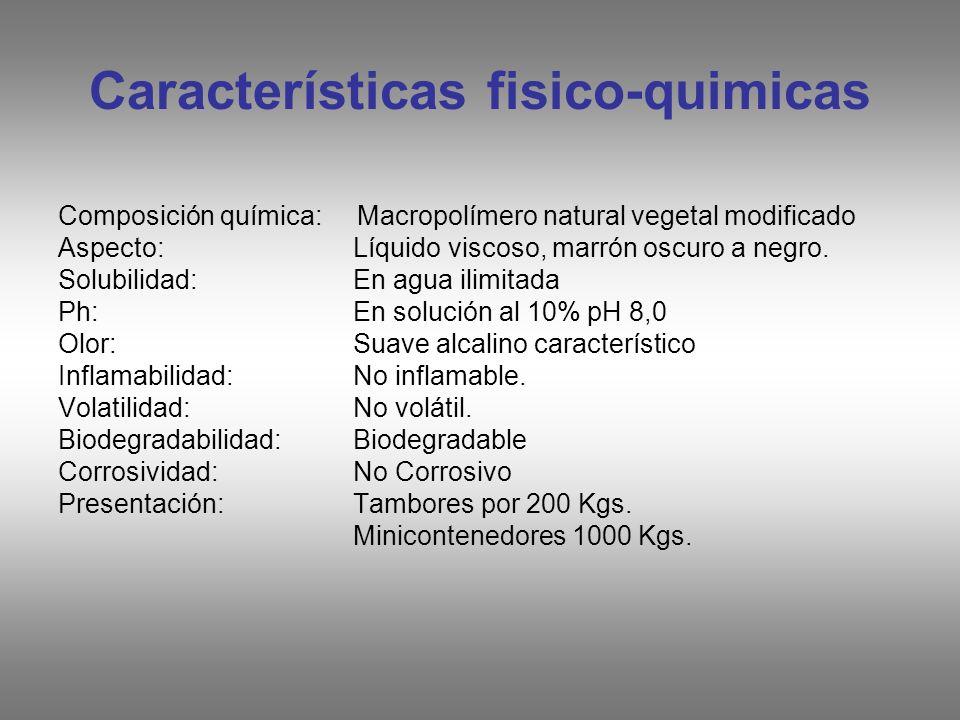 Características fisico-quimicas