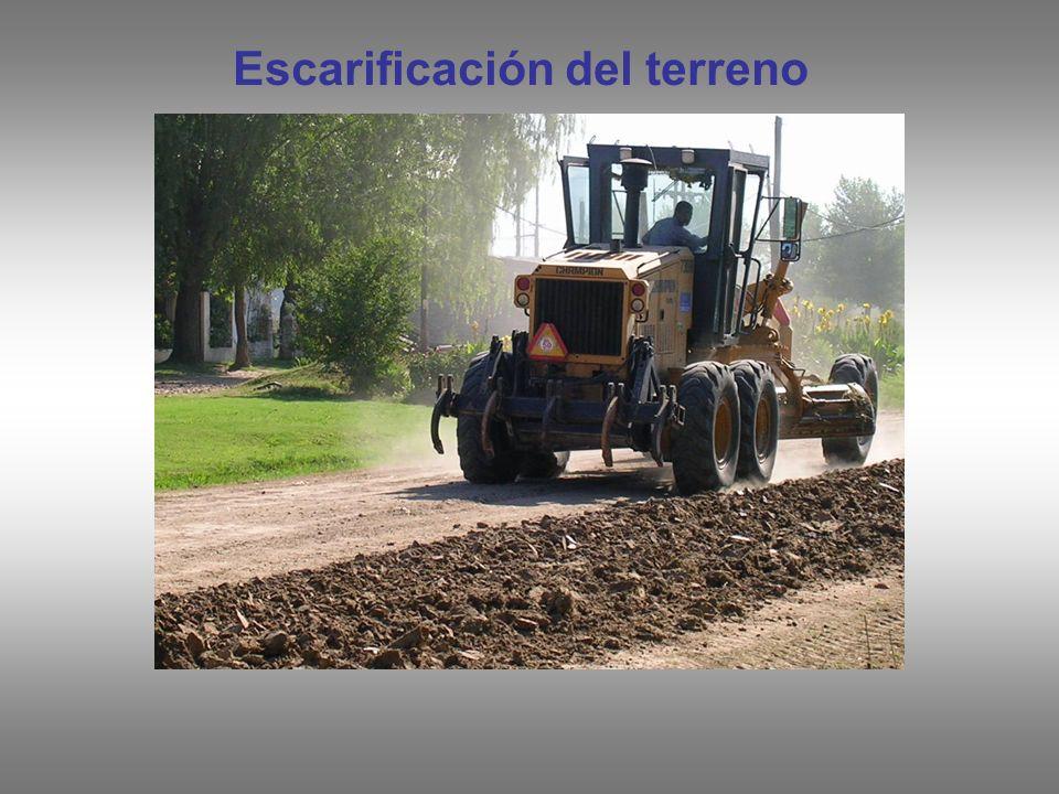 Escarificación del terreno