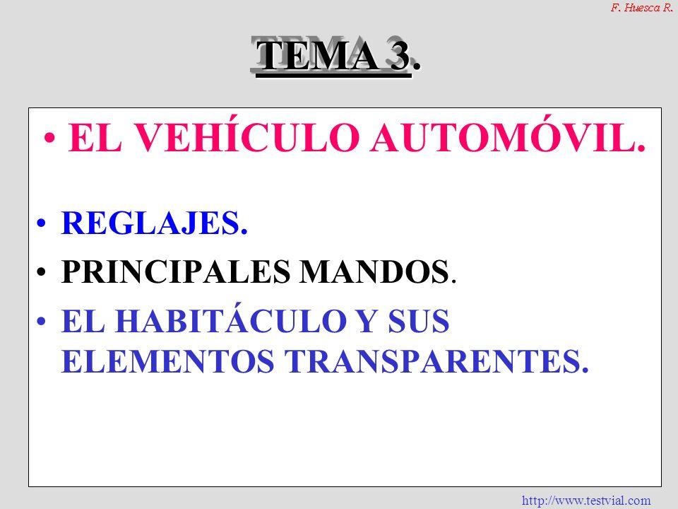 TEMA 3. EL VEHÍCULO AUTOMÓVIL.