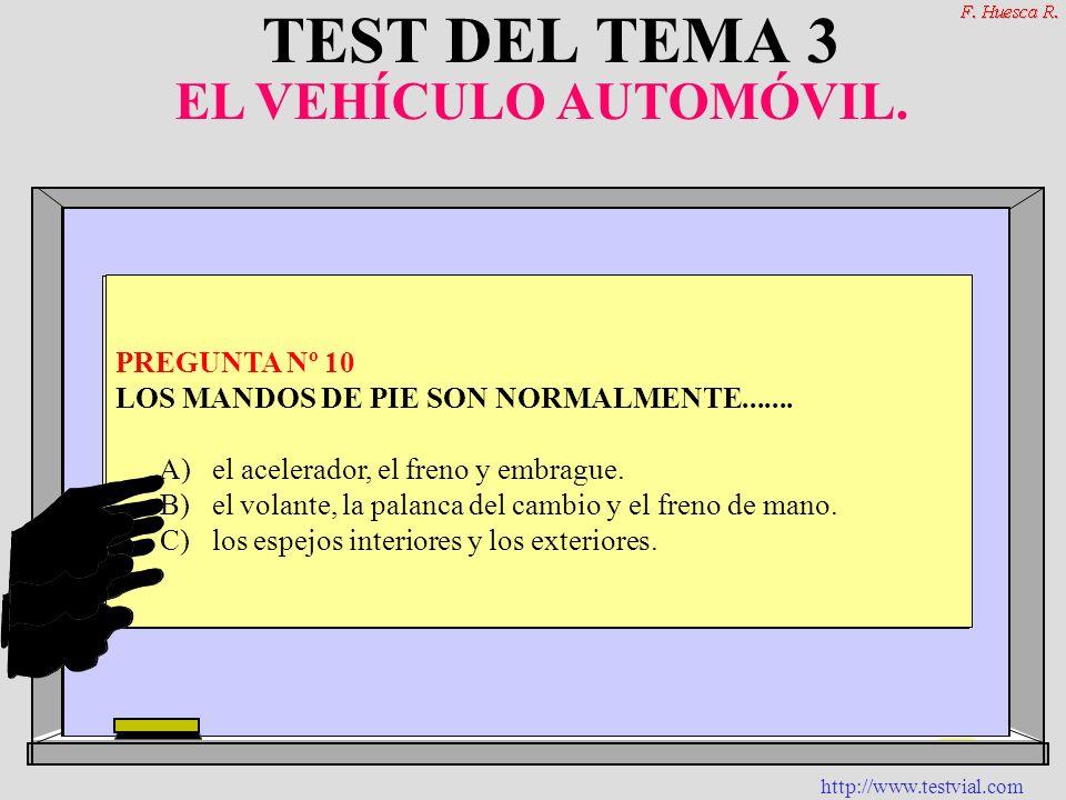 TEST DEL TEMA 3 EL VEHÍCULO AUTOMÓVIL. PREGUNTA Nº 8