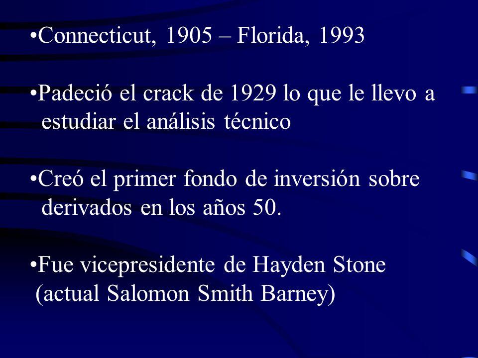 Connecticut, 1905 – Florida, 1993 Padeció el crack de 1929 lo que le llevo a. estudiar el análisis técnico.