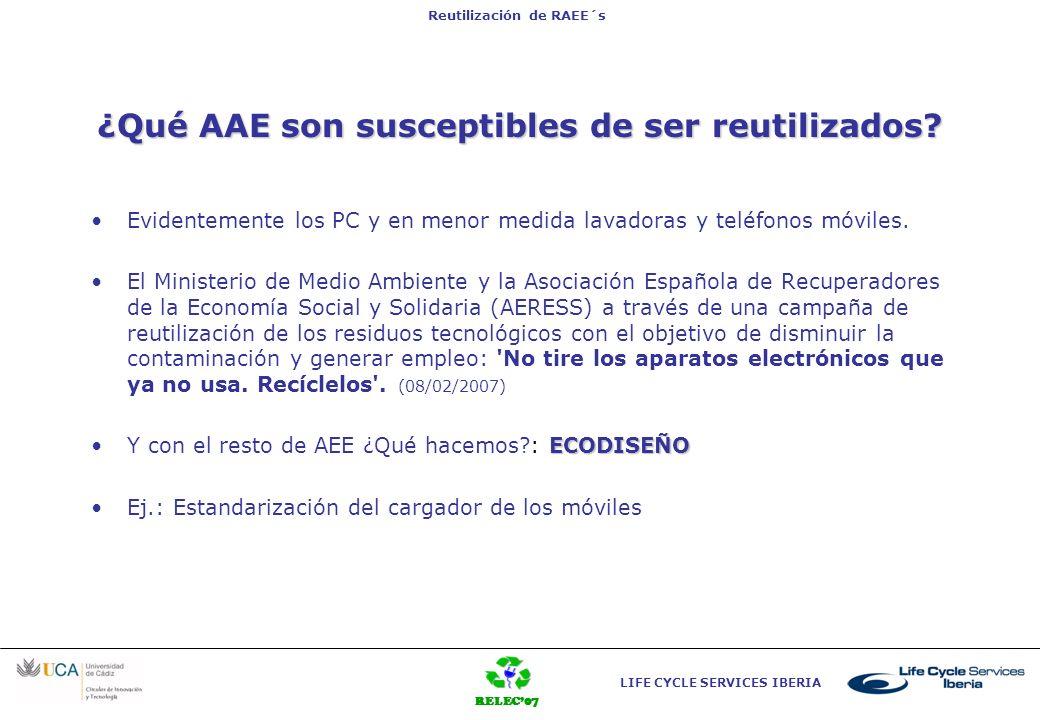 ¿Qué AAE son susceptibles de ser reutilizados
