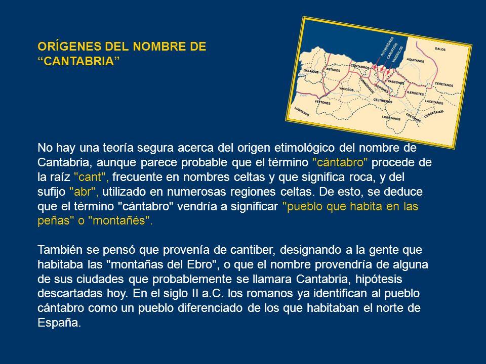 ORÍGENES DEL NOMBRE DE CANTABRIA
