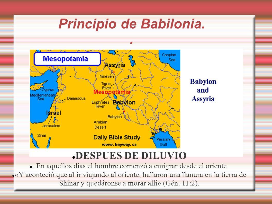 Principio de Babilonia. .