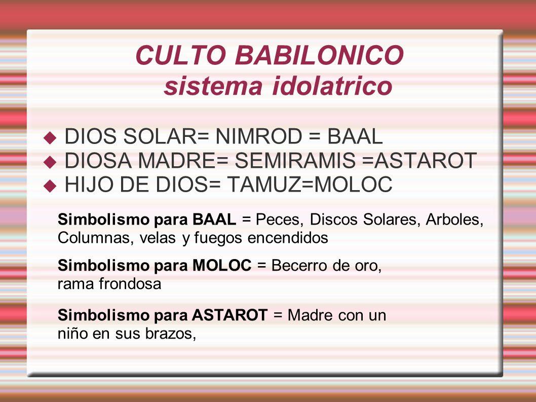 CULTO BABILONICO sistema idolatrico