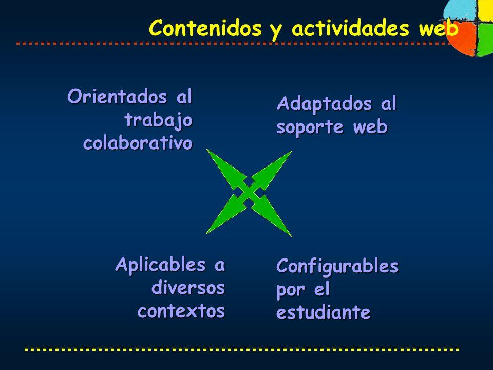 Contenidos y actividades web