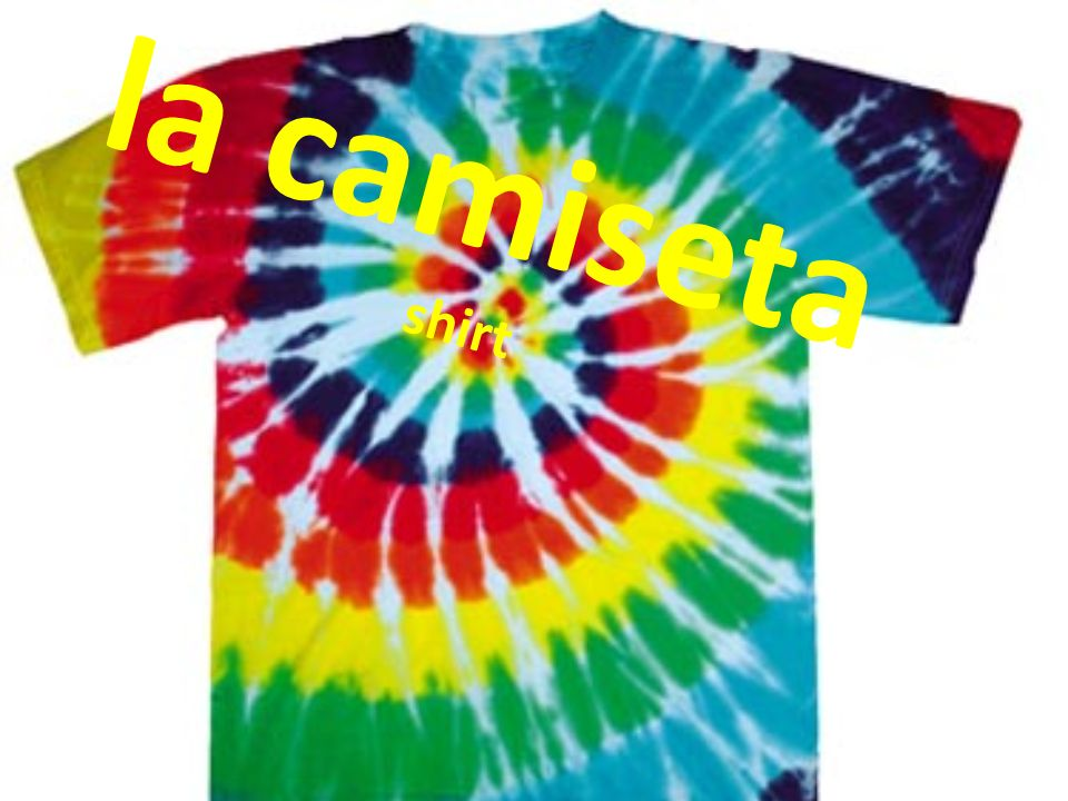 la camiseta shirt