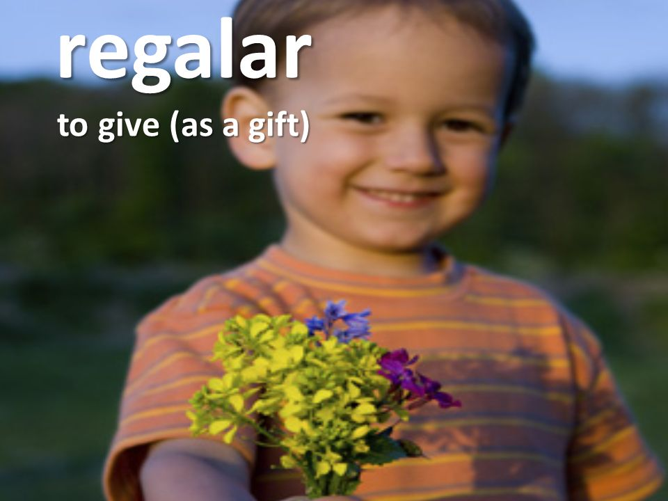 regalar to give (as a gift)