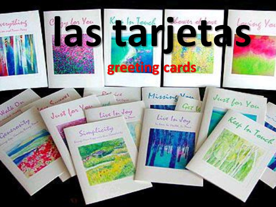 las tarjetas greeting cards