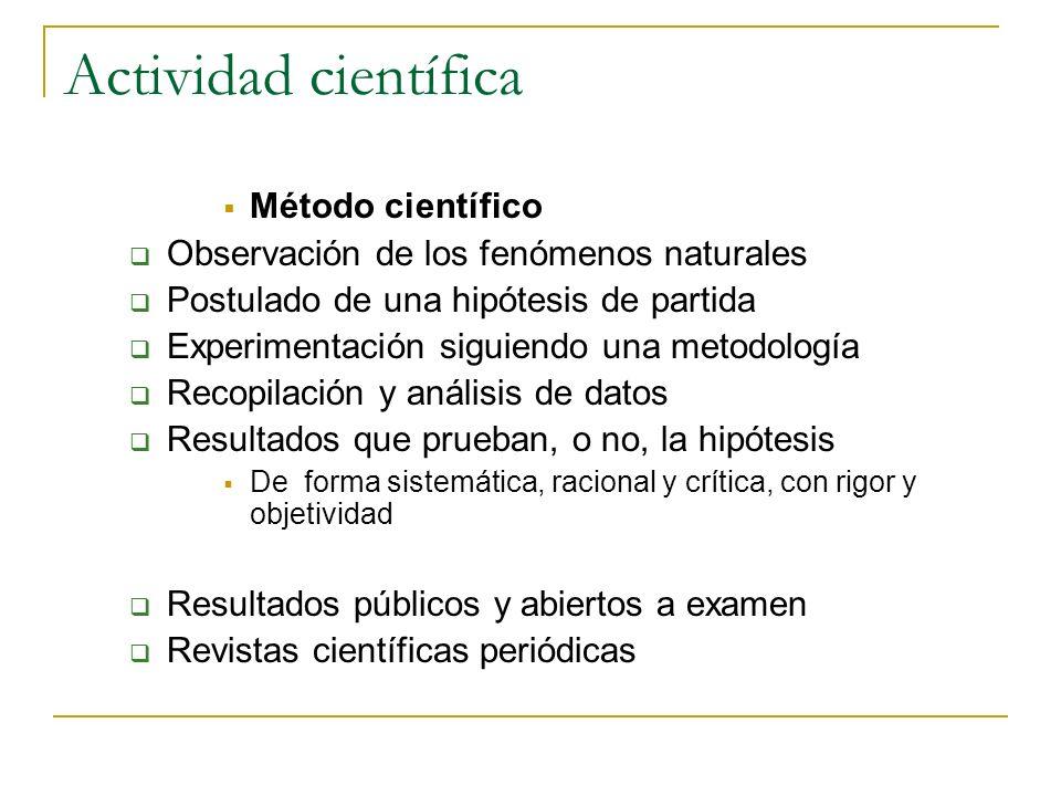 Actividad científica Método científico
